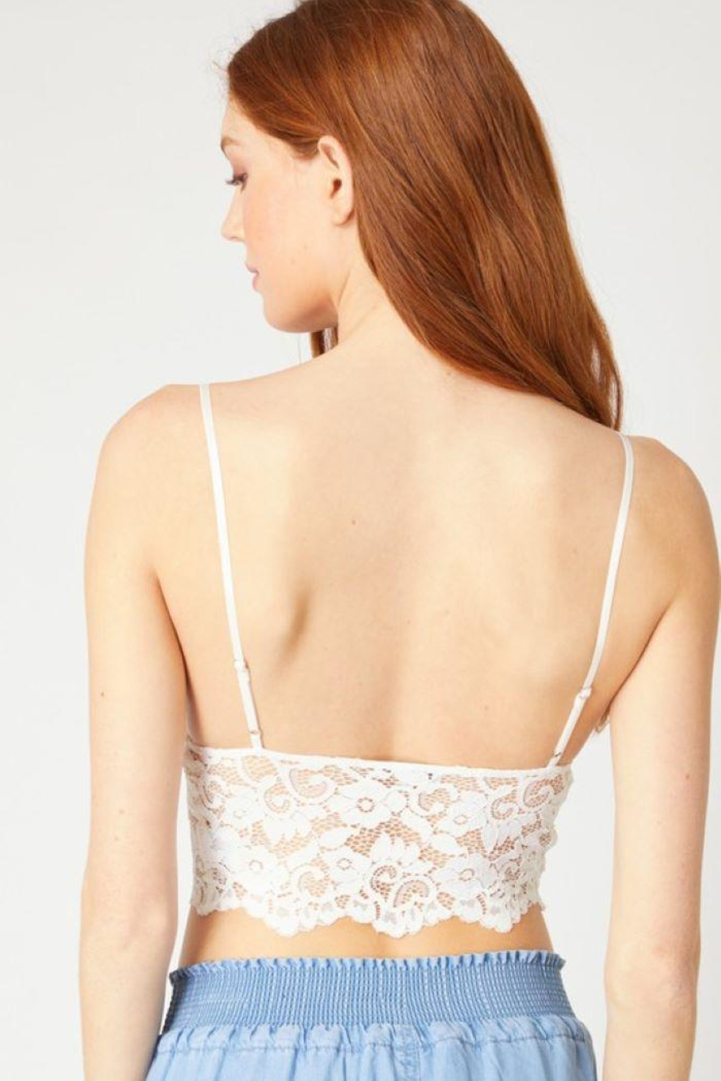 Love Tree Laced Bralette Cami Top - Front Full Image