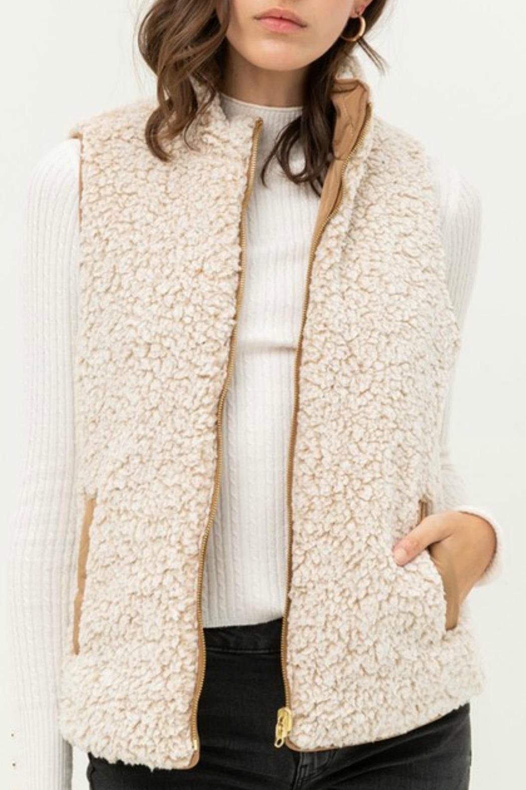Love Tree Lacey Reversible Vest - Main Image