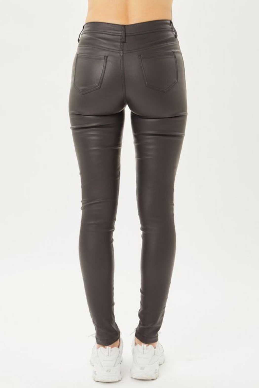 Love Tree Leather Pants With Skinny Fit - Side Cropped Image