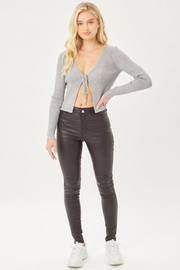 Love Tree Leather Pants With Skinny Fit - Front cropped