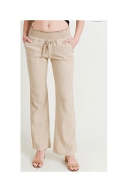 Love Tree Linen Smocked Pants - Front cropped