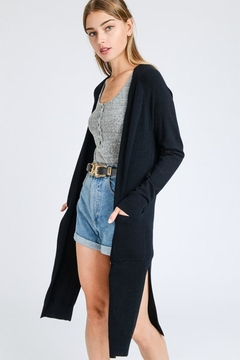 Shoptiques Product: Long Black Cardigan