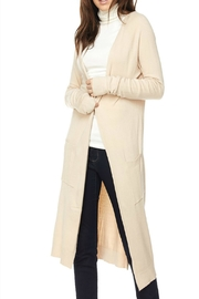 Love Tree Long Knit Duster-Cardigan - Front cropped