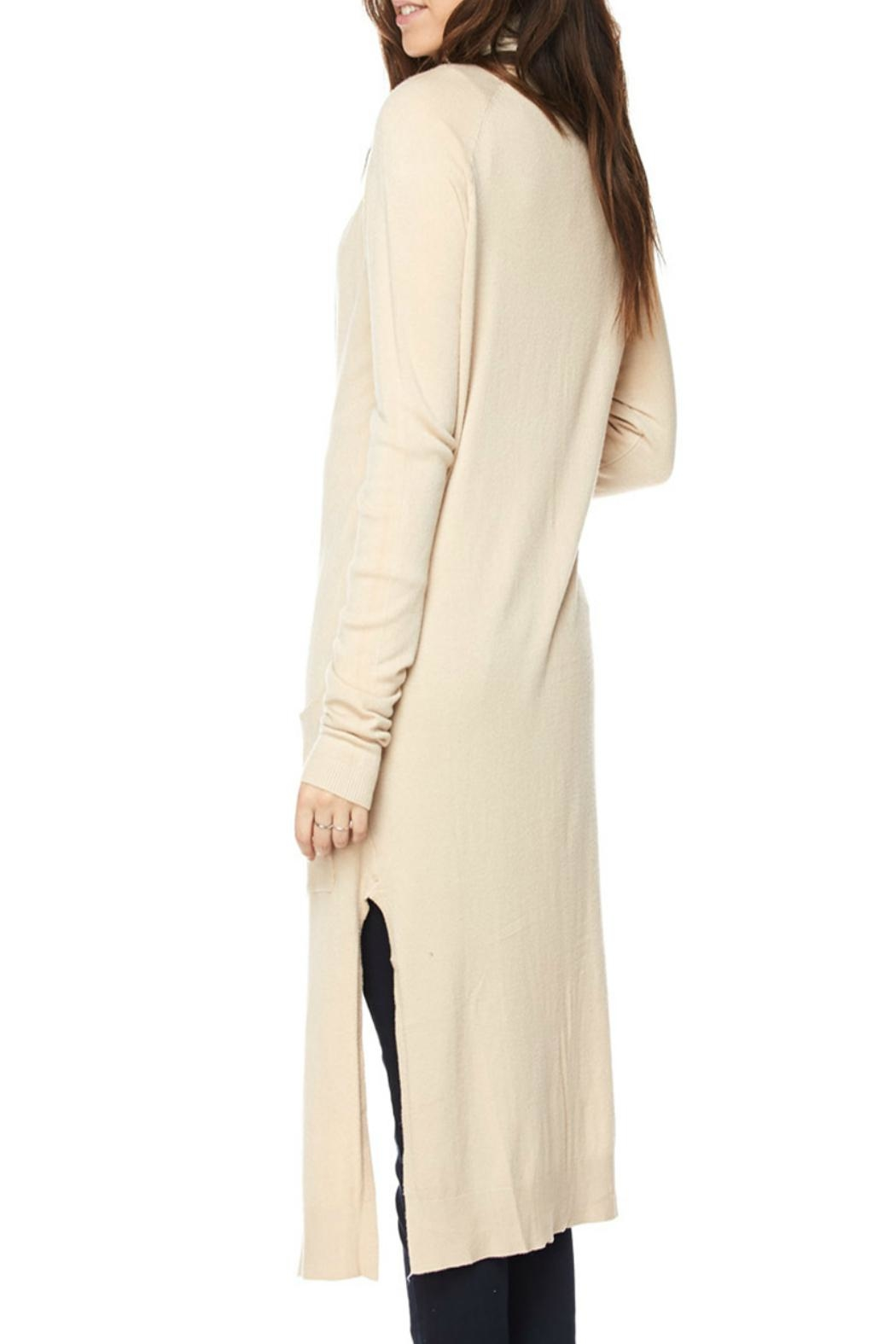 Love Tree Long Knit Duster-Cardigan - Front Full Image