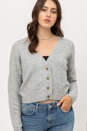 Love Tree Long-Sleeve Button Cardigan - Front cropped