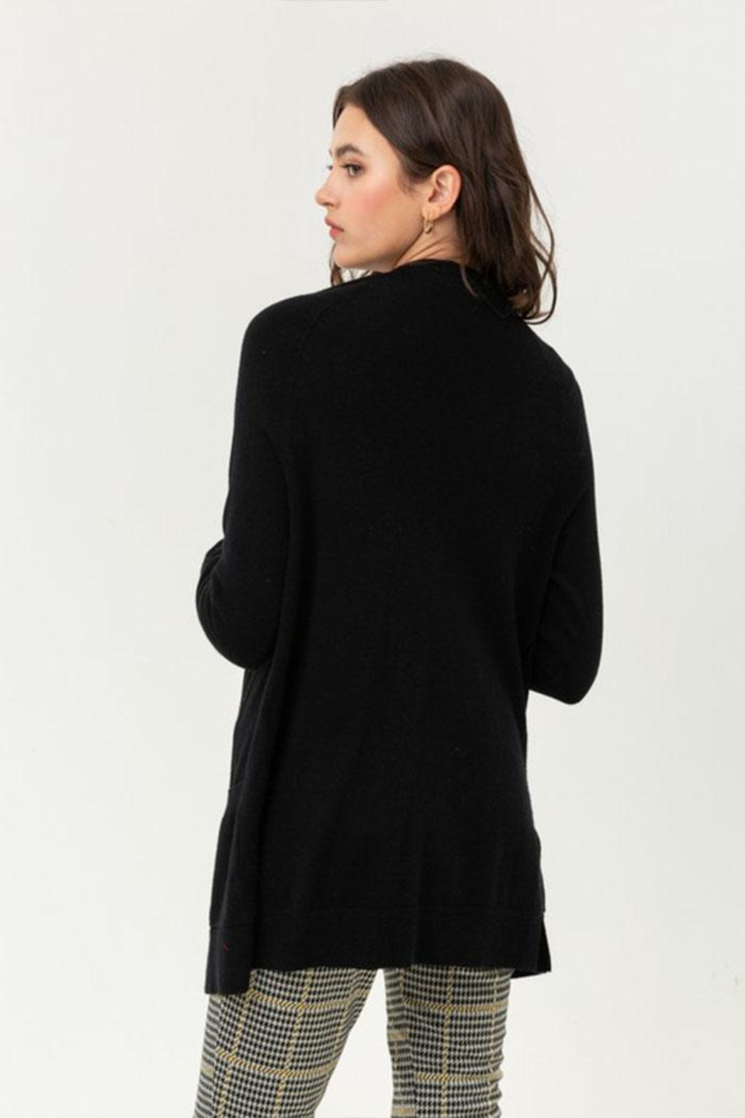 Love Tree Long Sleeve Cardigan - Side Cropped Image