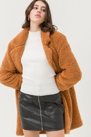 Love Tree Long Teddy Coat - Side cropped