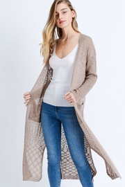 Love Tree Loose Knit Cardigan - Front cropped