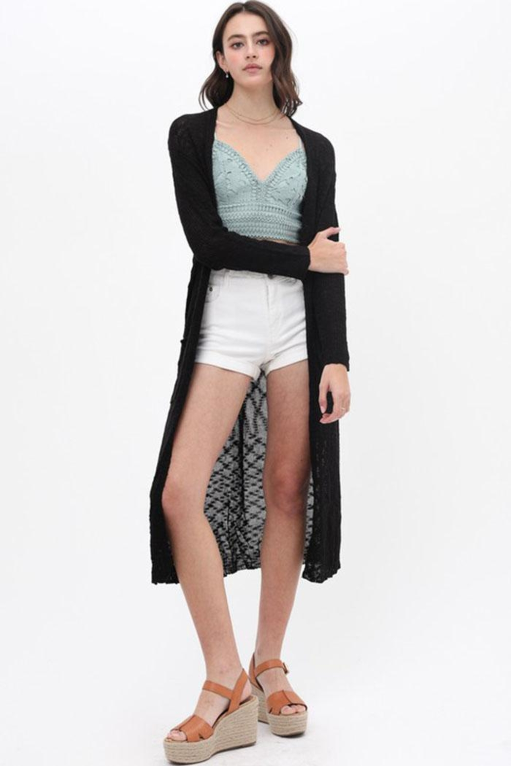 Love Tree Loose Knit Cardigan - Main Image
