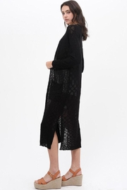 Love Tree Loose Knit Cardigan - Side cropped