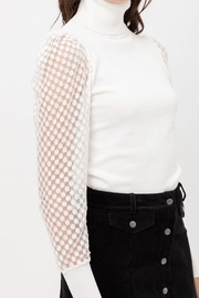 Love Tree Mesh Sleeve Top - Side cropped