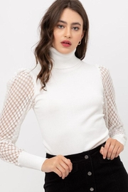 Love Tree Mesh Sleeve Top - Front cropped