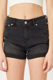 Love Tree Mid-Rise Denim Shorts - Front cropped
