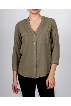 Love Tree Military Button-Down Blouse - Product List Image