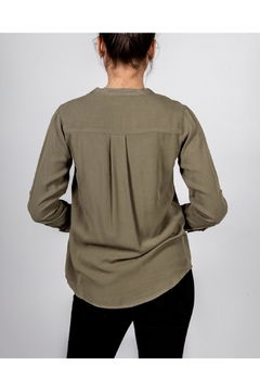 Love Tree Military Button-Down Blouse - Alternate List Image