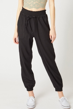 Love Tree Monica Linen Jogger Pant Available In 3 Colors (Black, Olive, Mauve) - Product List Image