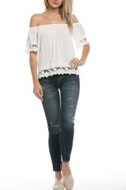 Love Tree Lace Off Shoulder Blouse - Product Mini Image