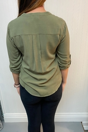 Love Tree Olive Blouse - Front full body