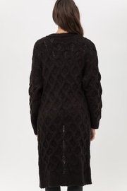 Love Tree Open-Front Cable Cardigan - Side cropped