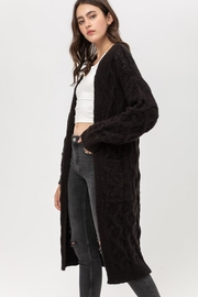 Love Tree Open-Front Cable Cardigan - Front full body