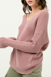 Love Tree Oversized Twisted-Back Sweater - Front cropped