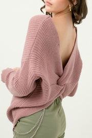 Love Tree Oversized Twisted-Back Sweater - Side cropped