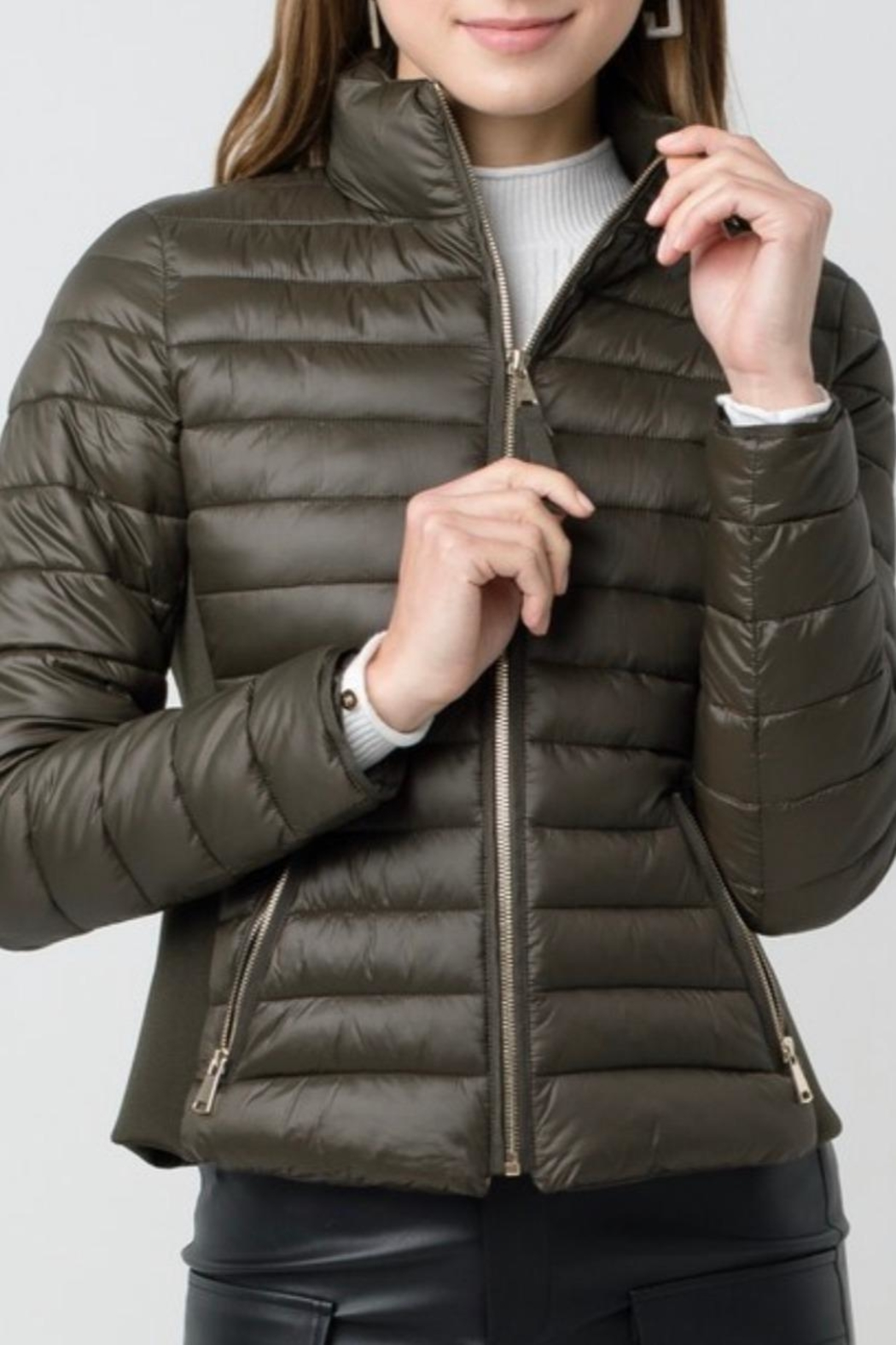 Love Tree Padded Puffer Jacket - Front Cropped Image