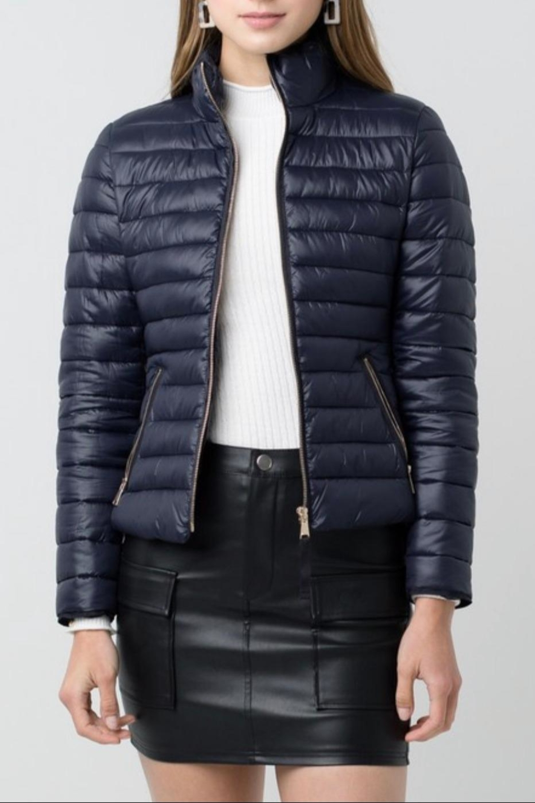 Love Tree Padded Puffer Jacket - Main Image