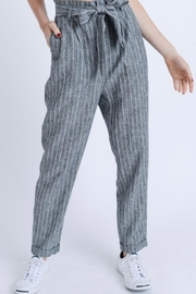Love Tree Paper-Bag Linen Pants - Front cropped