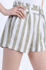 Love Tree Paper-Bag Linen Shorts - Other