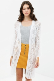 Love Tree Patterned Knit Cardigan - Front cropped