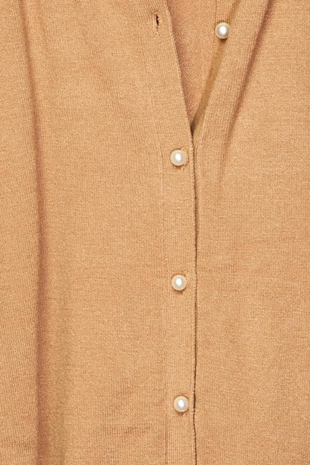 Love Tree Pearl Button Up Cardigan - Side Cropped Image