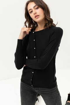 Love Tree Pearl Button Up Cardigan - Product List Image