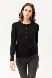 Love Tree Pearl Button Up Cardigan - Side cropped