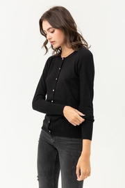 Love Tree Pearl Button Up Cardigan - Back cropped