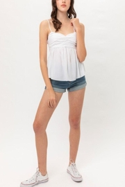 Love Tree Peplum Cami Top - Front cropped