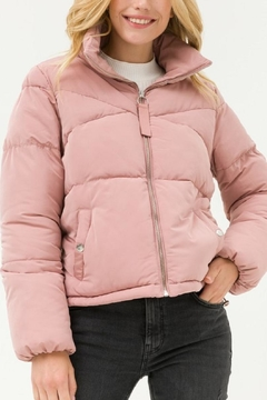 Love Tree Pink Puffer Jacket - Product List Image