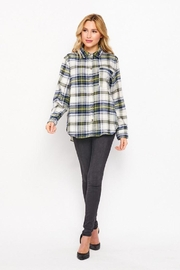 Love Tree Plaid Casual Flannel Top - Product Mini Image