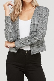 Love Tree Plaid Cropped Blazer - Front cropped