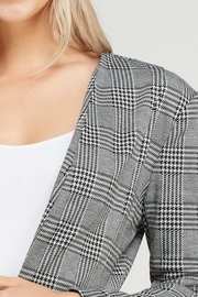 Love Tree Plaid Cropped Blazer - Front full body