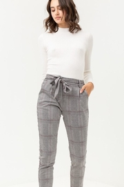 Love Tree Plaid Pants With Belt - Product Mini Image