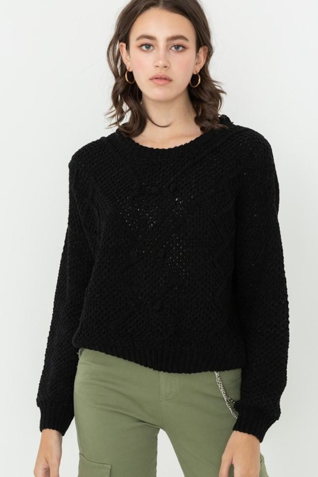 Love Tree Pom Pom Sweater - Front Cropped Image