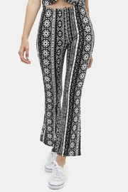 Love Tree Printed Flare Pants - Product Mini Image