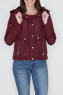 Shoptiques Product: Quilted Hoodie Jacket