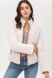 Love Tree Quilted Reversaible Jacket In Clay - Front full body