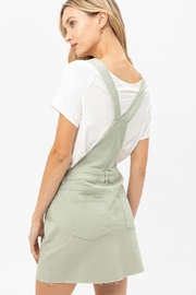 Love Tree Raw-Edge Denim Overall - Side cropped
