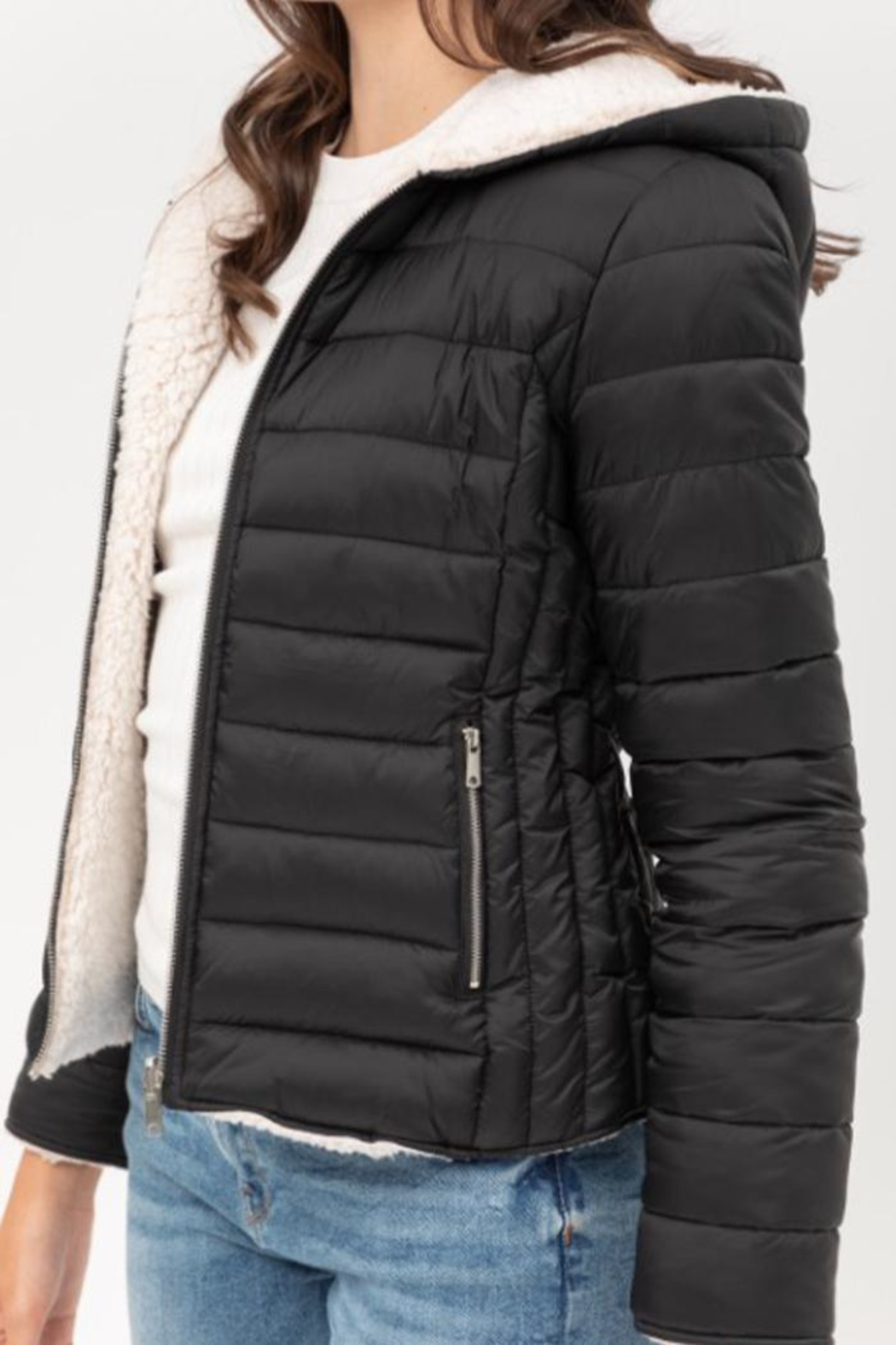 Love Tree Reversible Puffer Jacket - Front Full Image