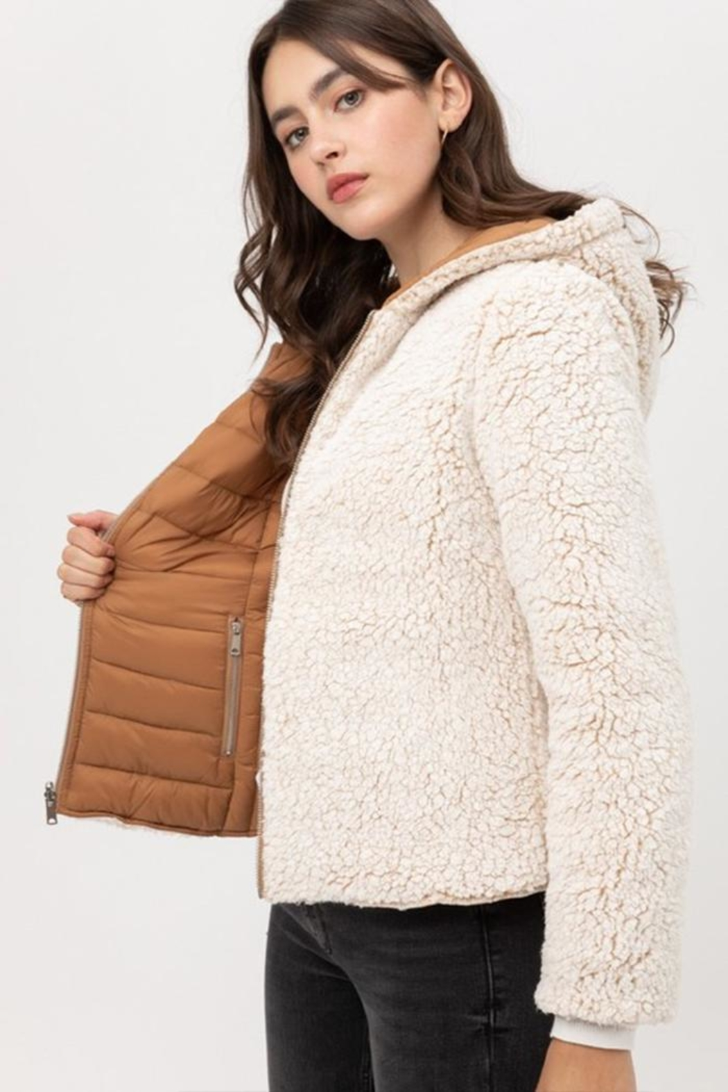 Love Tree Reversible Puffer Jacket - Side Cropped Image