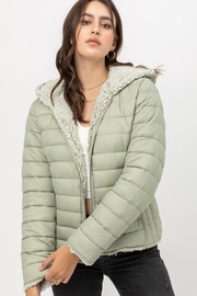 Love Tree Reversible Puffer Jacket - Front cropped