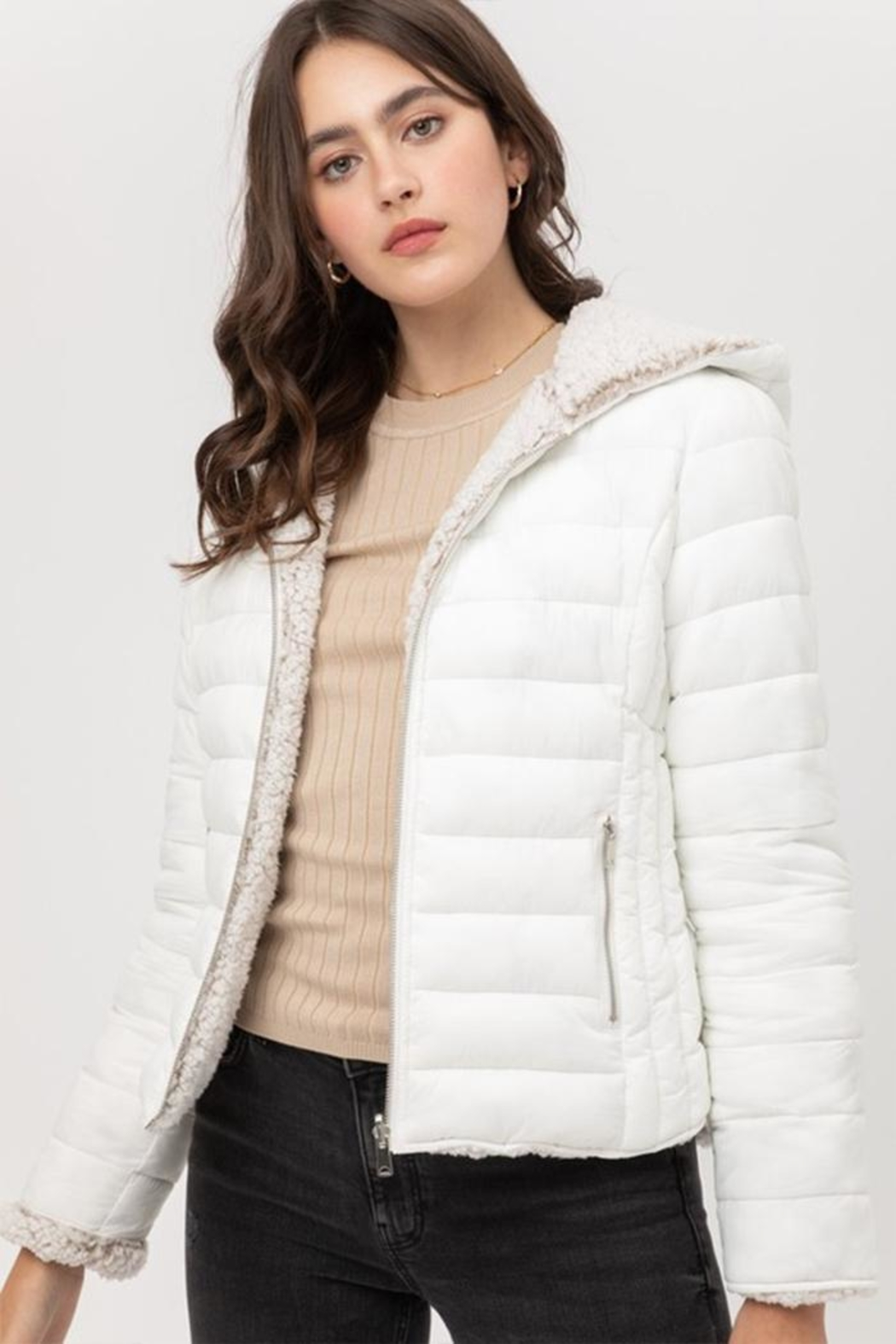 Love Tree Reversible Puffer Jacket - Front Cropped Image